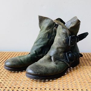 A.S. 98 Distressed Leather Ankle Boots